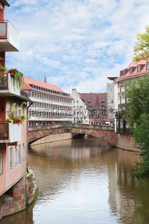 fleisch bridge in nuremberg germany