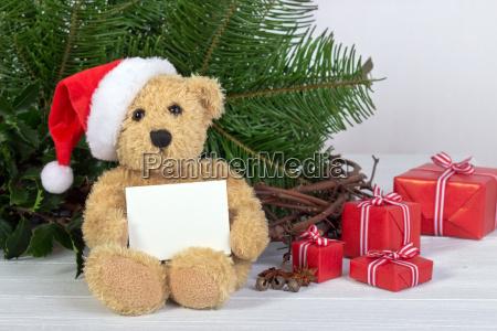 teddy teddy bear bear christmas hat