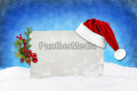 xmas card blue snow