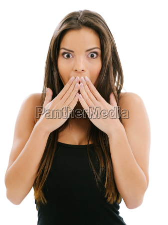 young, woman, surprised - 10415471