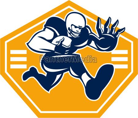 american football running back stiff arm