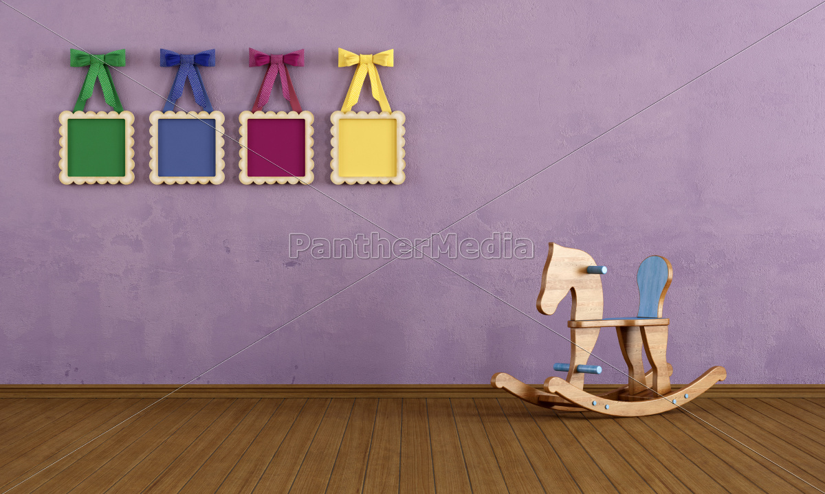 vintage, play, room, with, wooden, horse - 10457851