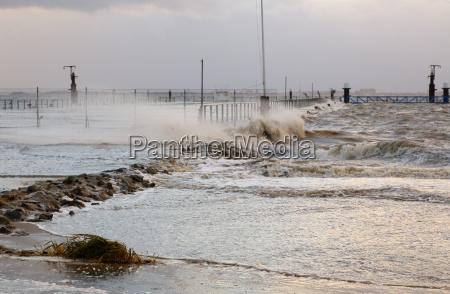 stormtief at the north sea