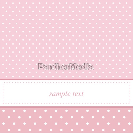 pink vector card invitation for baby