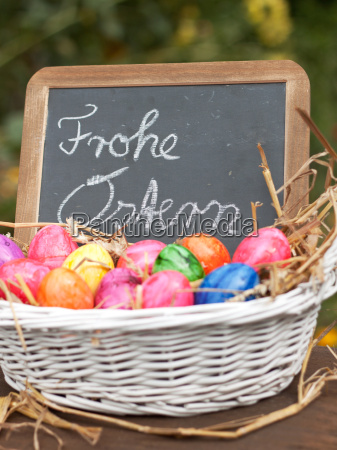 freshly, dyed, eggs - 10476215