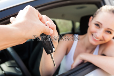 young, woman, in, the, new, car - 10481331
