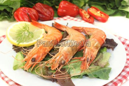fresh orange shrimp