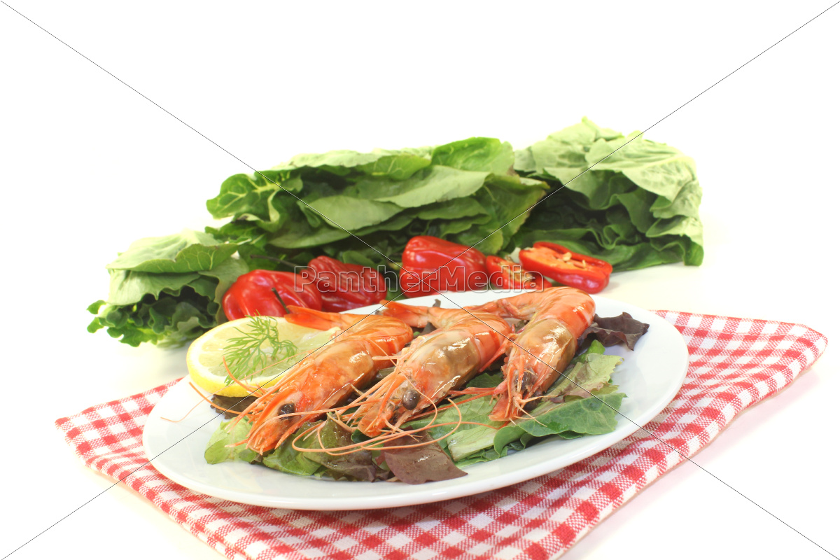 orange, shrimp - 10489809