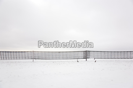 snow guard fence graphically reduced