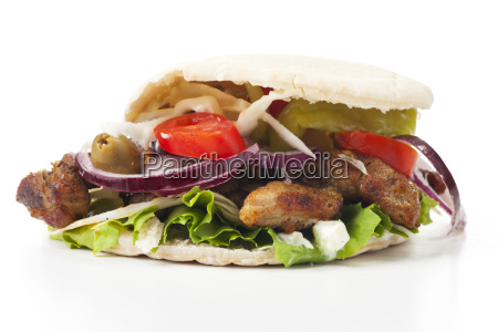 doner kebab in a pita bread
