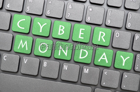 cyber monday on keyboard