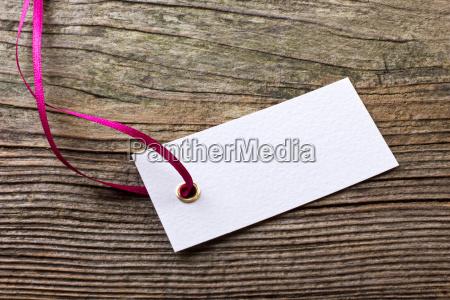 label trailer ribbon tape copy space