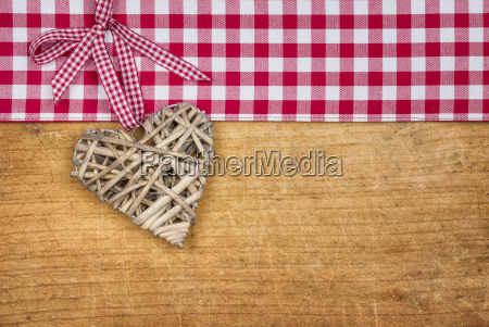 rustic wooden background with a braided