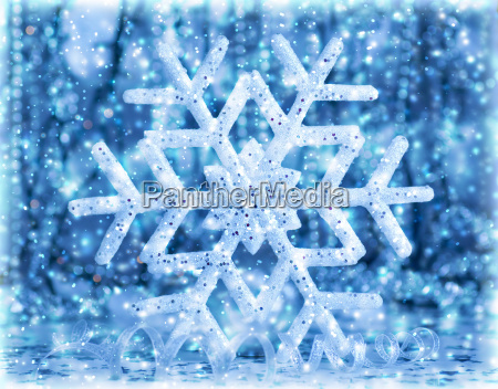 beautiful blue snowflake