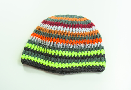 colourful crocheted winter hat