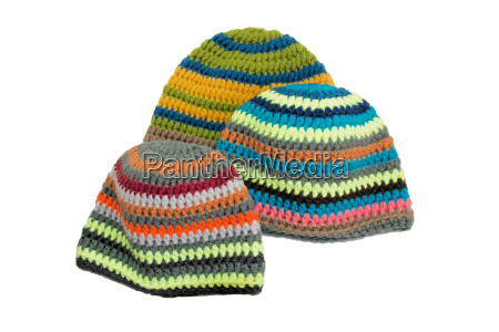 colorful crocheted hats