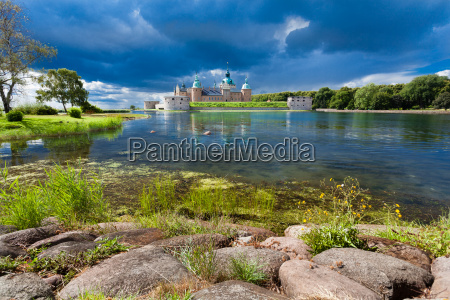 historical kalmar castle in sweden scandinavia