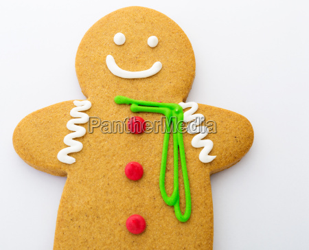gingerbread cookies isolated on white