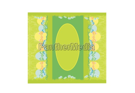 easter festive background and egg in