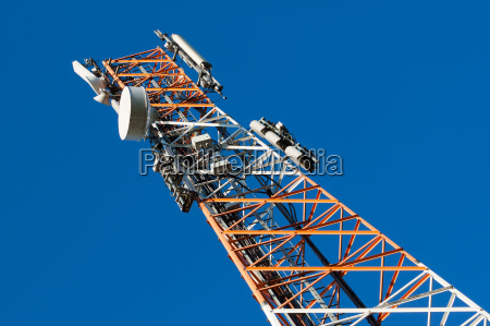 communications tower with antenna