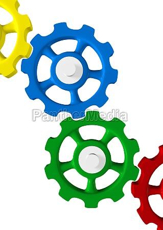colourful gear concept 5