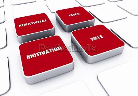 pad concept red motivation creativity