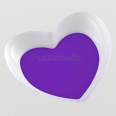 3d heart flyer square white