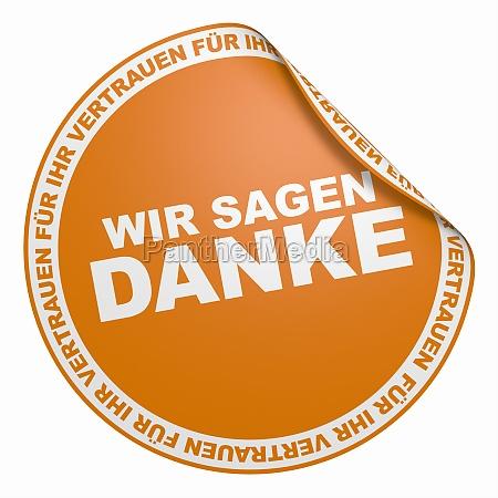 3d sticker orange we say