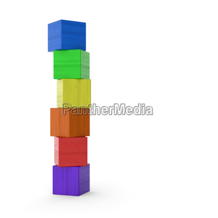 colorful blocks stacked