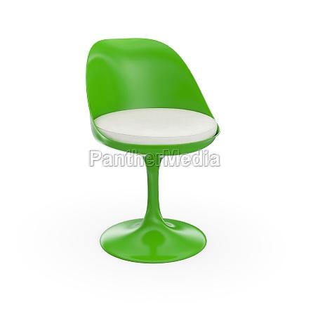 futuristic chair green white