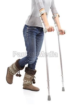 close up of a woman walking