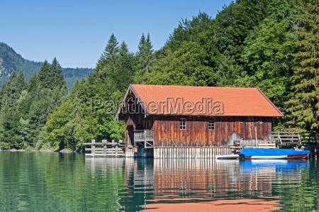boathouse on walchensee
