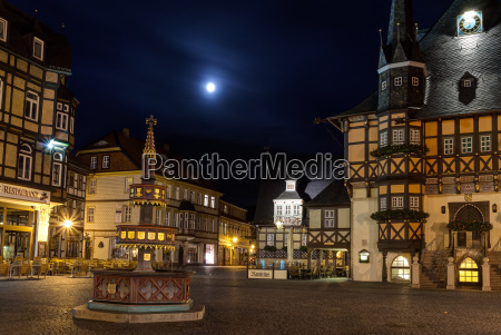 night view of historical market place