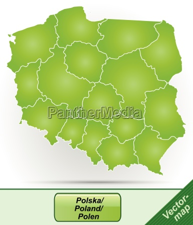 border map of poland with borders