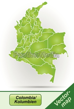 border map of colombia with borders