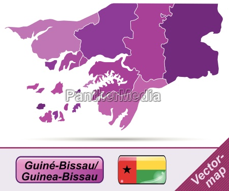 border map of guinea bissau with