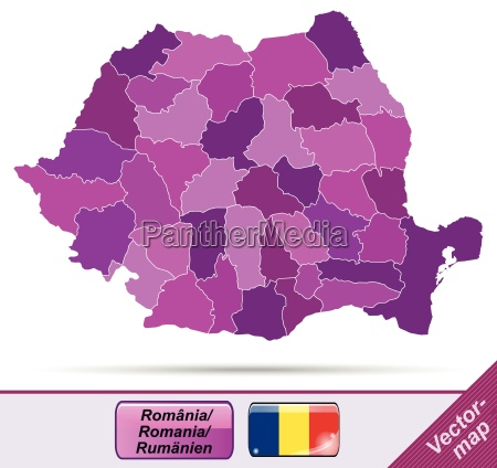border map of romania with borders
