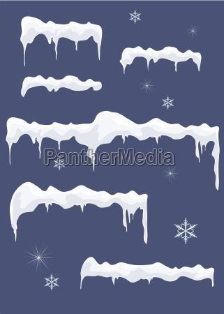 ice sheet with icicles stars and