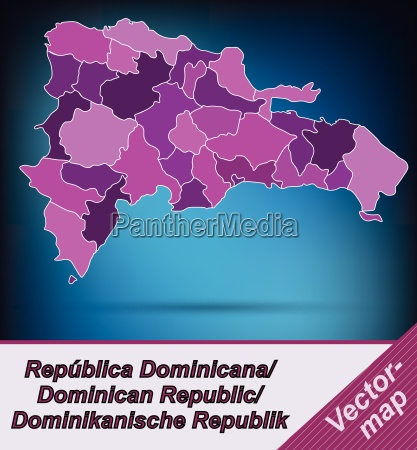 border map of dominican republic with