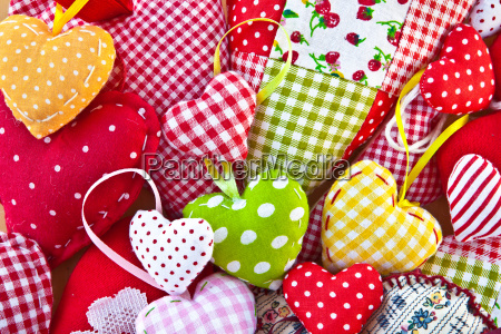 colorful heart from colorful fabrics