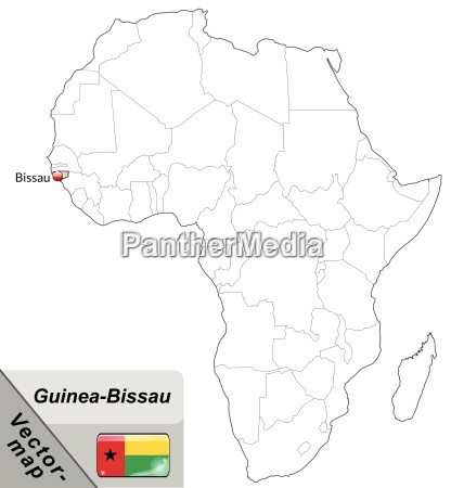 island map of guinea bissau with