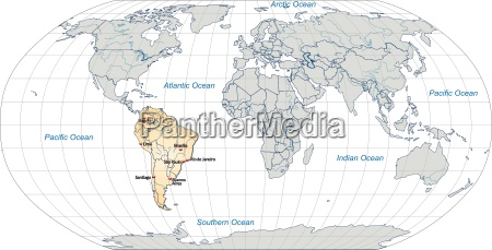 map of south america with main