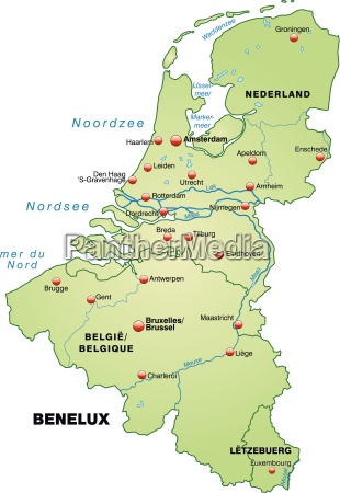 map of benelux laender as an