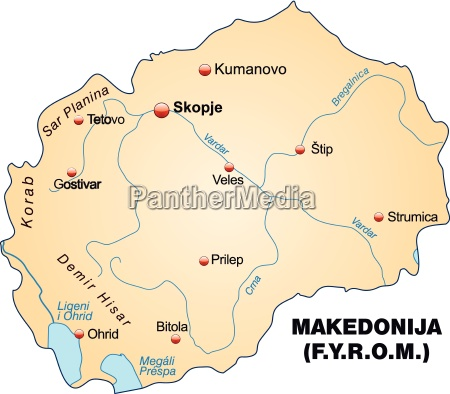 map of macedonia as an overview