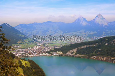 view from seelisberg against the myths