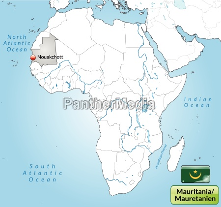 surrounding area of mauritania with capitals