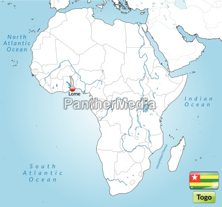 surrounding area of togo with capitals