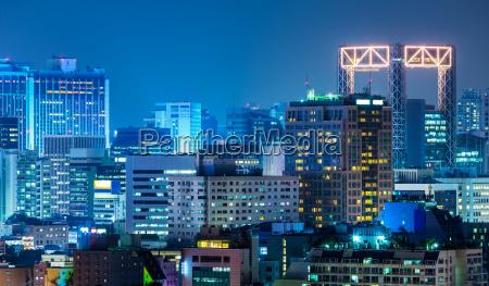 seoul city at night