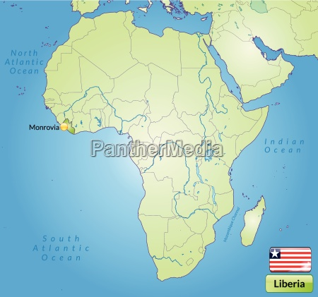 surrounding area of liberia with capitals