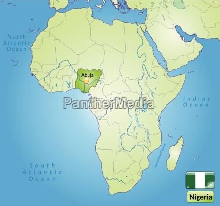surrounding area of nigeria with capitals